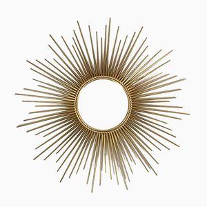 Vergoldeter Mid-Century Sonnenspiegel von Chaty Vallauris