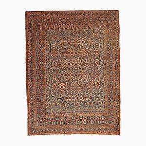Antiker Persischer Handgeknüpfter Tabriz Hajalili Teppich, 1880er