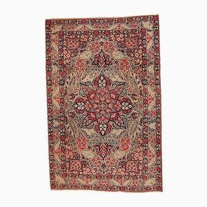 Antiker Persischer Handgeknüpfter Kerman Lavar Teppich, 1880er