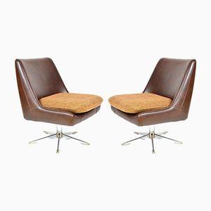 Vintage Kunstleder Sessel, 2er Set