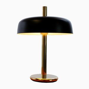 Black Brass Mushroom Desk Lamp by Egon Hillebrand for Hillebrand, 1960s