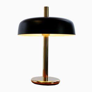 Lampe de Bureau Mushroom en Laiton Noir par Egon Hillebrand pour Hillebrand, 1960s