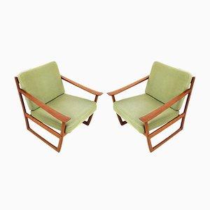 Mid-Century Danish FD 130 Teak Easy Chairs by Peter Hvidt & Orla Mølgaard-Nielsen for France & Søn, Set of 2
