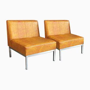 British Vinyl Chairs, 1970s, Set of 2