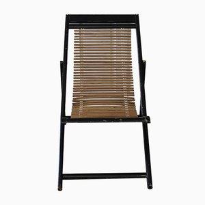 Verstellbarer Chinesischer Mid-Century Liegestuhl, 1950er