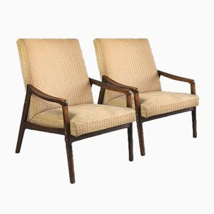 Czech Lounge Chairs from Interier Praha, 1970s, Set of 2