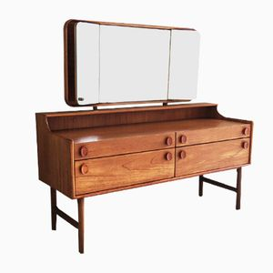 Coiffeuse avec Miroirs Latéraux Ajustable de Meredew, 1970s