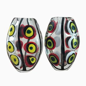 Italienische Glasvasen von Vetro Di Murano, 1970er