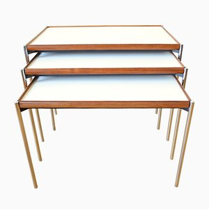 Model 125 Nesting Tables with Reversible Tops from Lämmle & Co., 1960s