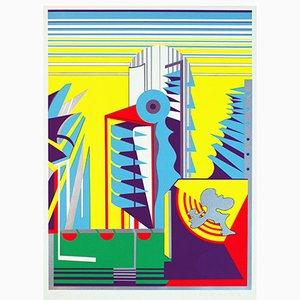 Serigrafia Relais Alpha con 8 colori di Gerd Struckmeier, 1969