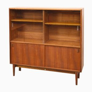 Mid-Century Teak and Glass Display Cabinet or Bookcase by Swift, 1960s