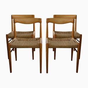 Dänische Mid-Century Beistellstühle von H.W. Klein für Bramin, 1960er, 4er Set