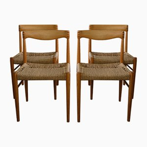 Great Mid Century Danish Side Chairs By H.W. Klein For Bramin, 1960s, Set Of