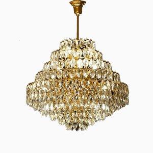 Vintage Brass & Glass Ceiling Light from Schröder Leuchten