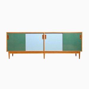 Großes Farbiges Sideboard mit Schiebetüren von Jos De Mey für Van den Berghe-Pouvers, 1958