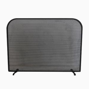 Mid-Century Fireplace Screen in Perforated Metal, 1950s
