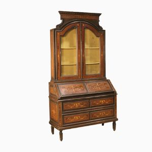 Italian Secretary with Display Cabinet