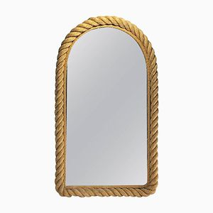 Mid-Century French Riviera Mirror by Audoux Minnet, 1960s