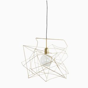 Gold Asymmetric Lampshade from House Doctor