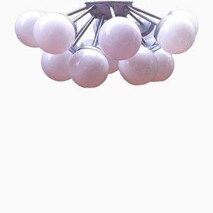 Spanish 17 Light Sputnik Flush Mount Ceiling Lamp, 1960s