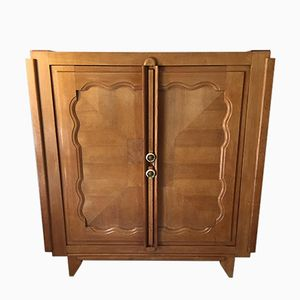 Mid-Century Oak Cupboard by Guillerme et Chambron
