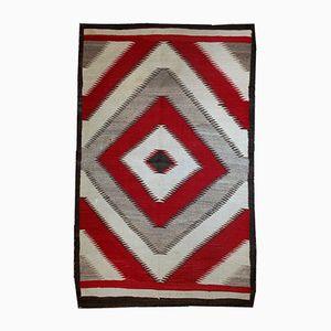 Antiker Handgemachter Amerikanische Ureinwohner Navajo Teppich