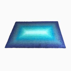 Blauer Vintage Teppich im Pop Art Stil, 1970er