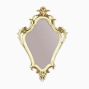 Miroirs Vénitiens Vintage Laqués et Dorés, Set de 2