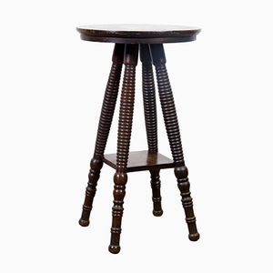 Bobbin Leg Lamp Table, 1880s