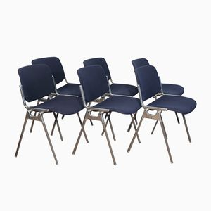 DSC 106 Chairs by G. Piretti for Castelli, 1970s, Set of 6
