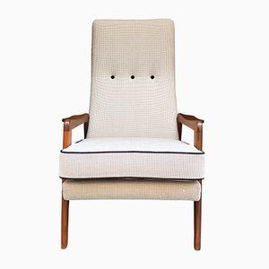 Mid-Century Swedish Teak Re-Upholstered Armchair, 1960s