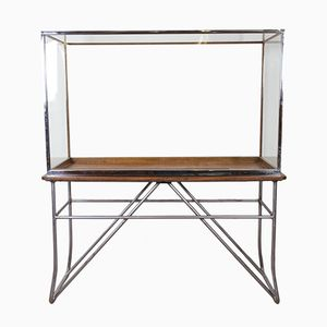 Chromed Museum Display Cabinet from Harris & Sheldon, 1930s