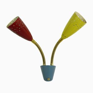 Mid-Century Petite Colored Sconce with Flexible Arms, Germany, 1950s