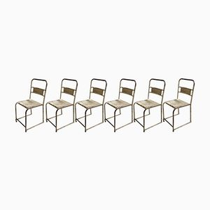 Mid-Century Metal Bistro Chairs, 1950, Set of 6