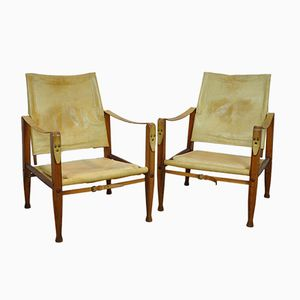Mid-Century Safari Chairs by Kaare Klint for Rud Rasmussen, Set of 2