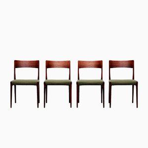 Vintage Model 77 Rosewood Dining Chairs by Niels O. Møller for J.L. Møller, Set of 4