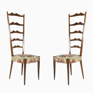 Italian High-Back Chairs from Minotti, 1950s, Set of 2