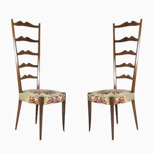 Italienische Stühle mit Hoher Rückenlehne von Minotti, 1950er, 2er Set