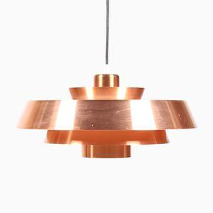 Nova Ceiling Lamp in Copper by Jo Hammerborg for Fog & Mørup, 1960s