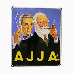 Emailliertes AJJA Tabak Schild, 1953