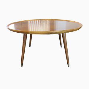 Mid-Century Italian Walnut Round Coffee Table