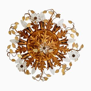Vergoldete Hollywood Regency Florentine Lampe, 1970er