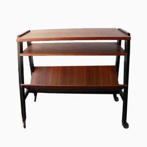Mid-Century Table Trolley with Magazine Rack, 1960s