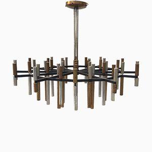 Chandelier Mid-Century à 42 Lampes de Stilnovo