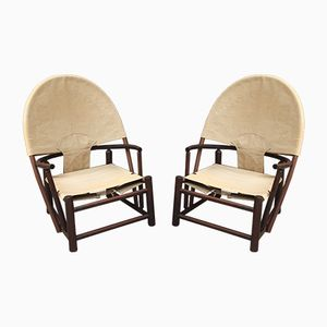 Hoop Lounge Chairs by Piero Palange & Werther Toffolinoi, 1972, Set of 2