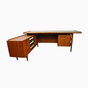 Vintage Desk and Sideboard by Arne Vodder for Sibast, 1950s