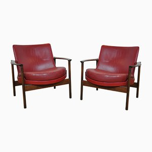 Easy Chairs by Ib Kofod Larsen, 1950s, Set of 2