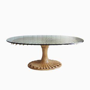 Italienischer Geschnitzter Tisch, 1970er
