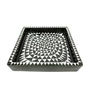 Domino Ceramic Tray by Stig Lindberg for Gustavsberg, 1950s