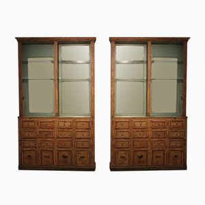 19th Century Spanish Display Cabinets, Set of 2